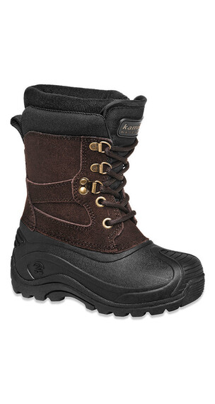 Kamik Nationjr Leather Boots Kids WP dark brown